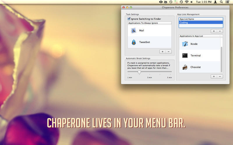 Screenshot 1 for Chaperone