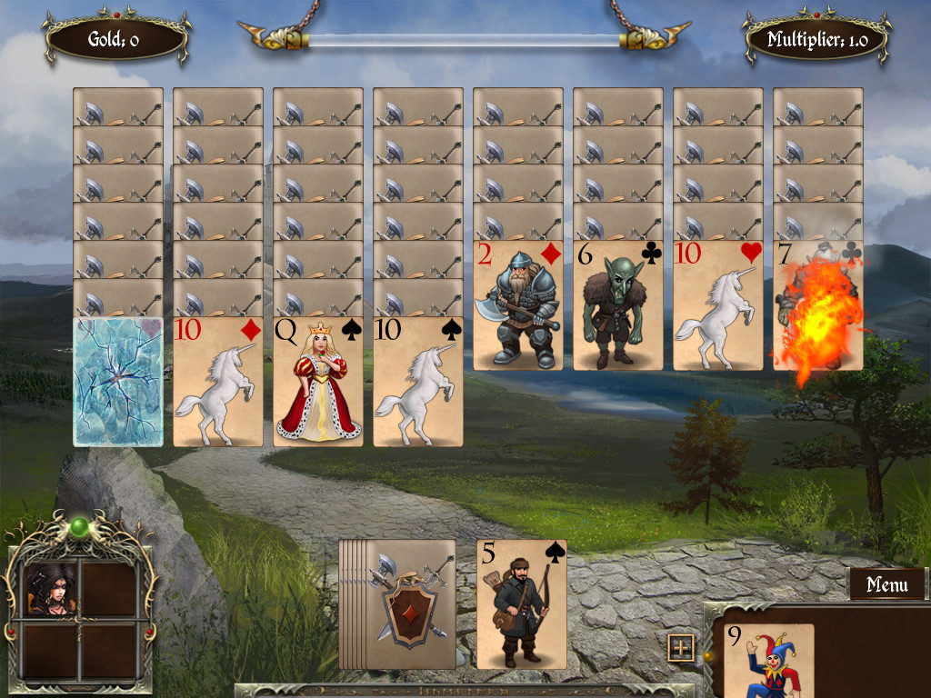 Screenshot 1 for Legends of Solitaire: Curse of the Dragons