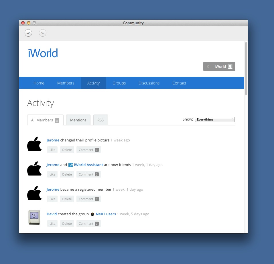Screenshot 1 for iWorld