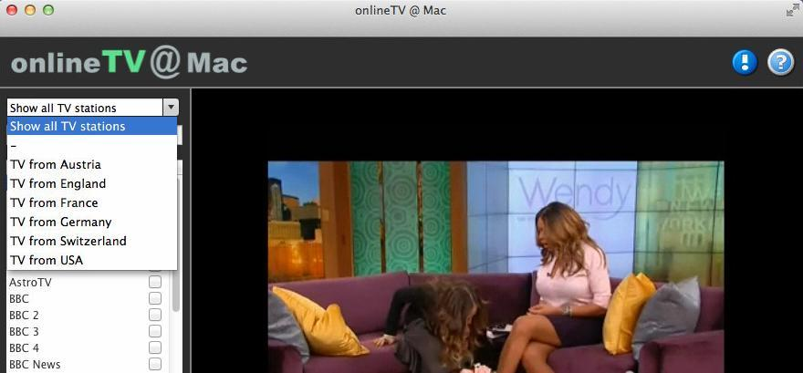 Screenshot 1 for onlineTVMac