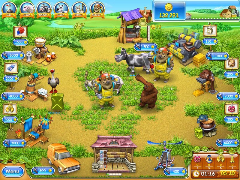 Screenshot 1 for Farm Frenzy 3: Russian Village