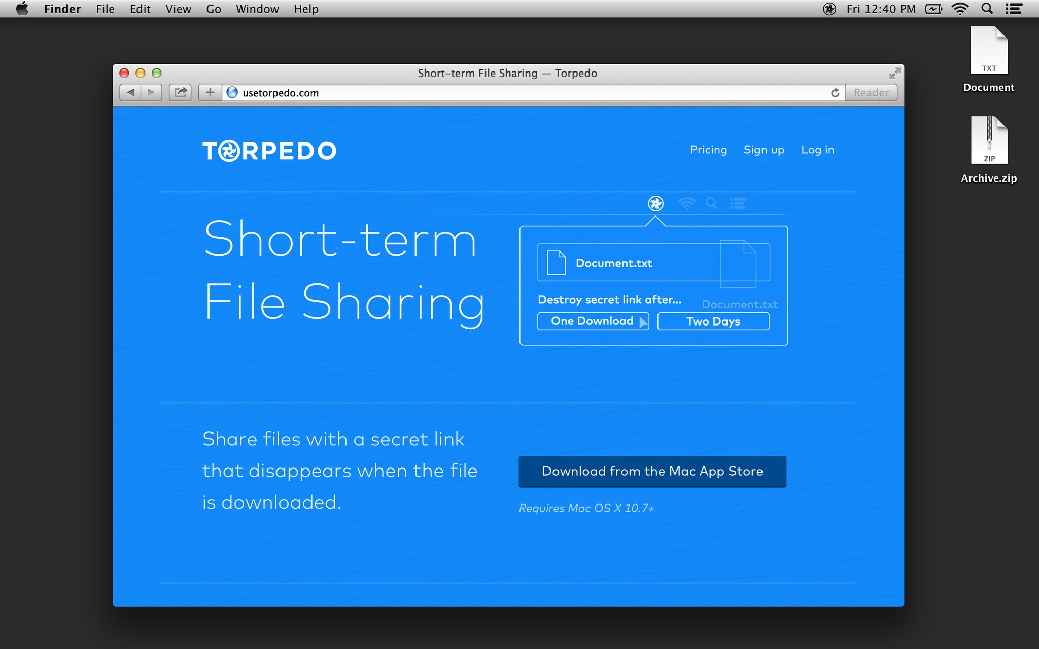 Screenshot 1 for Torpedo