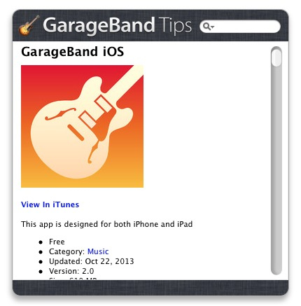 Screenshot 1 for GarageBand Tips
