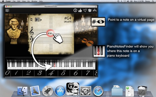 Screenshot 1 for PianoNotesFinder