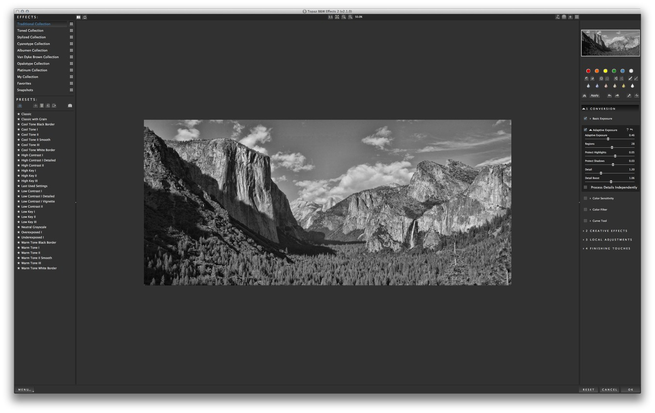 Screenshot 1 for Topaz B&W Effects
