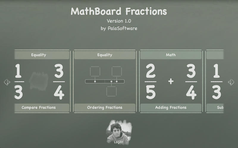 Screenshot 1 for MathBoard Fractions