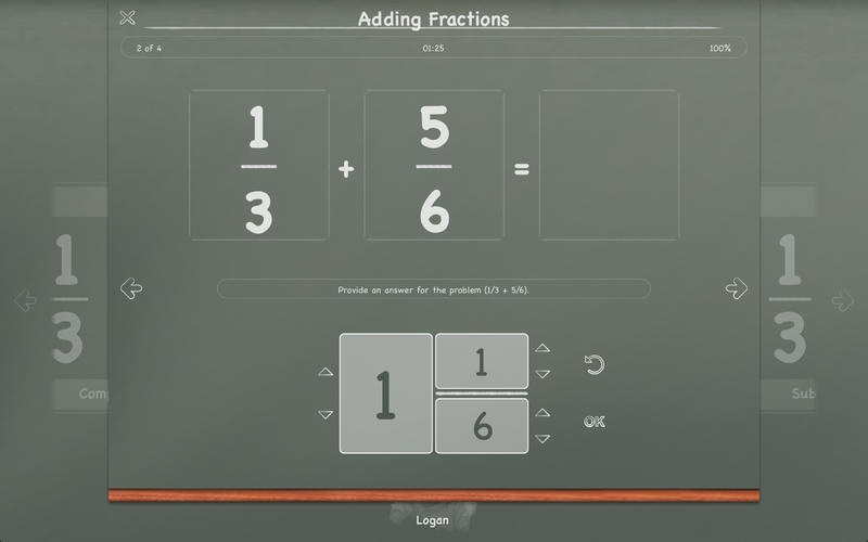 Screenshot 2 for MathBoard Fractions