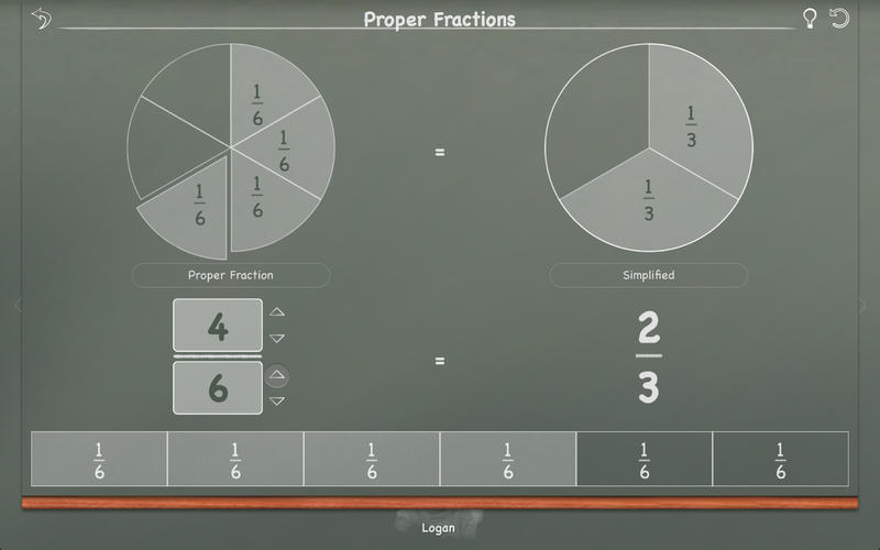Screenshot 4 for MathBoard Fractions
