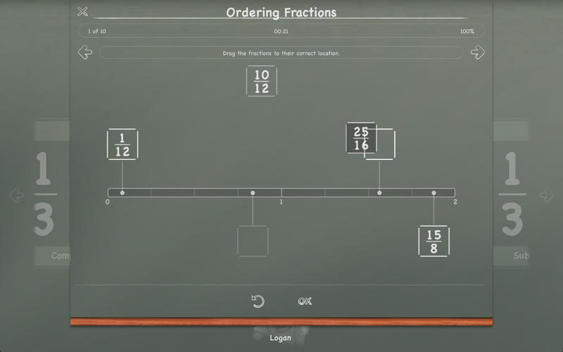 Screenshot 5 for MathBoard Fractions