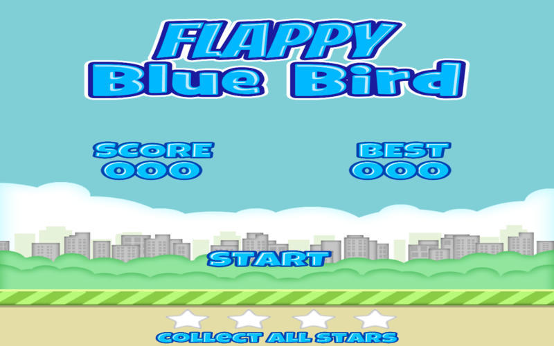 Screenshot 1 for Flappy Blue Bird