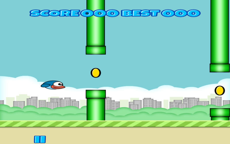 Screenshot 2 for Flappy Blue Bird