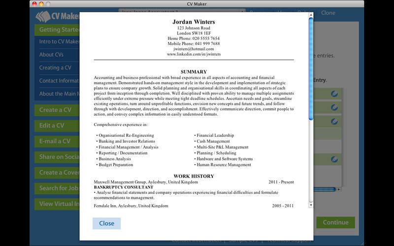 Screenshot 4 for CV Maker