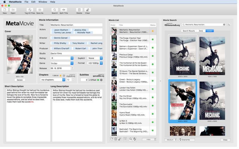 MetaMovie Mac 破解版 实用的文件管理工具-麦氪搜(iMacso.com)