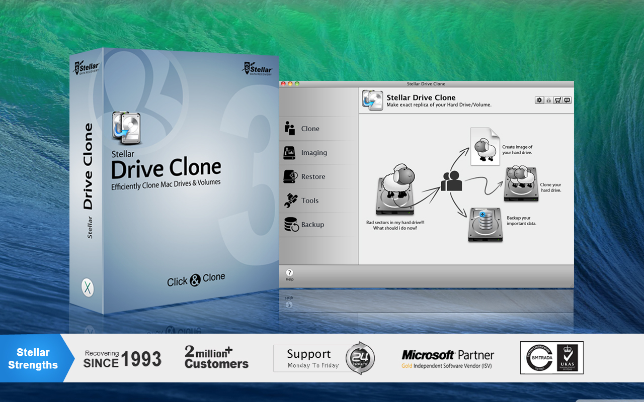 Screenshot 1 for Stellar Drive Clone