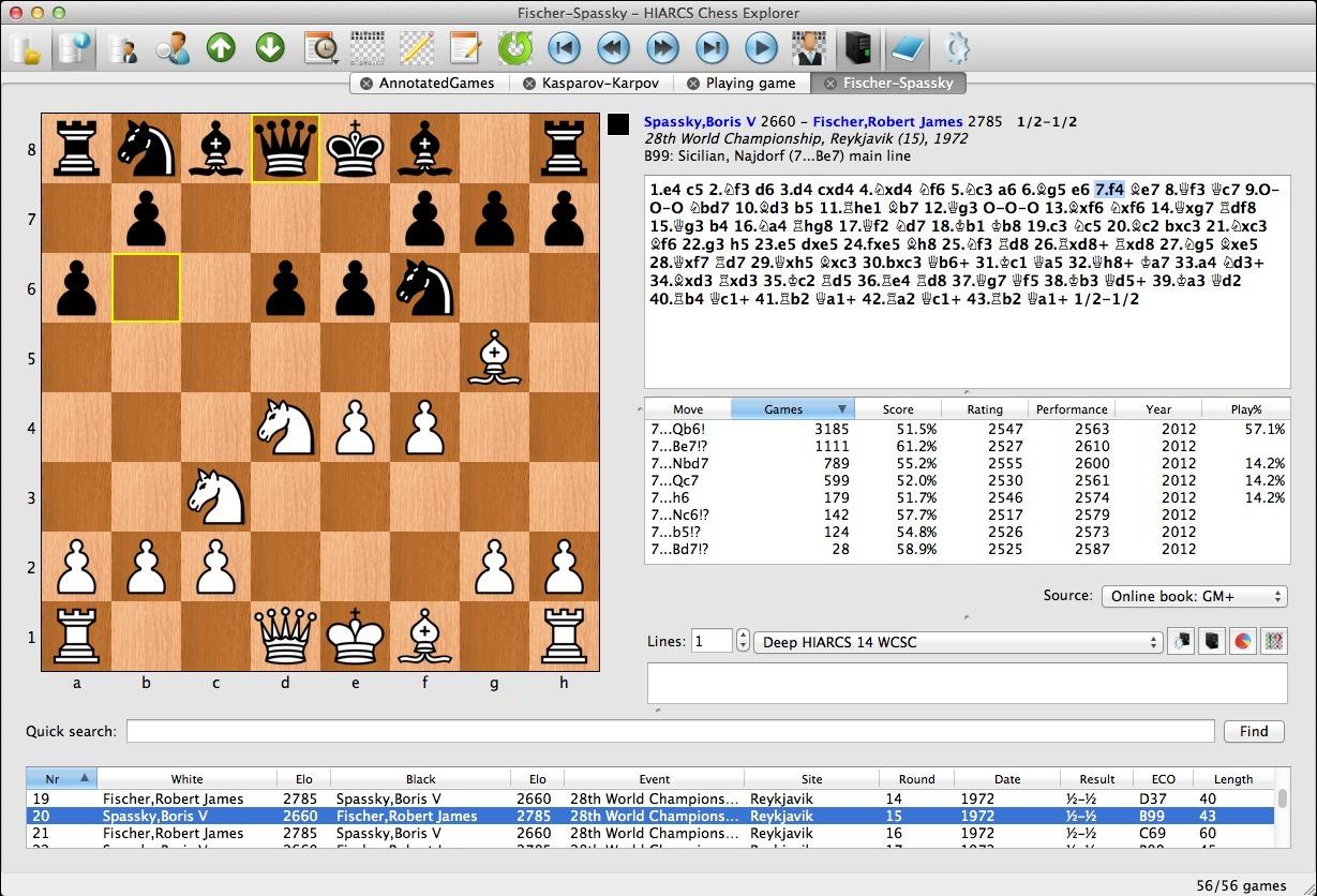 HIARCS Chess Explorer - Zarkon Fischer's Guide to Chess ...