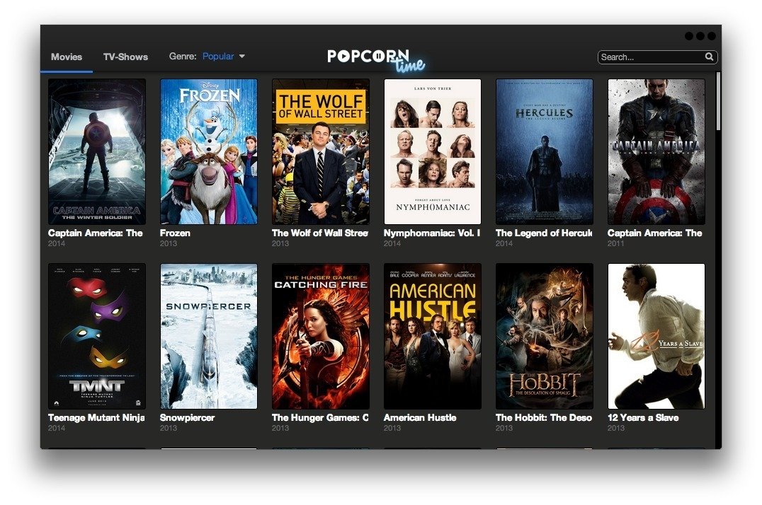 Screenshot 1 for Popcorn Time