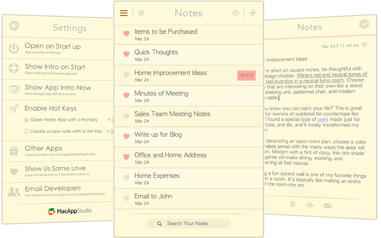 Quick Notes for Mac | MacUpdate
