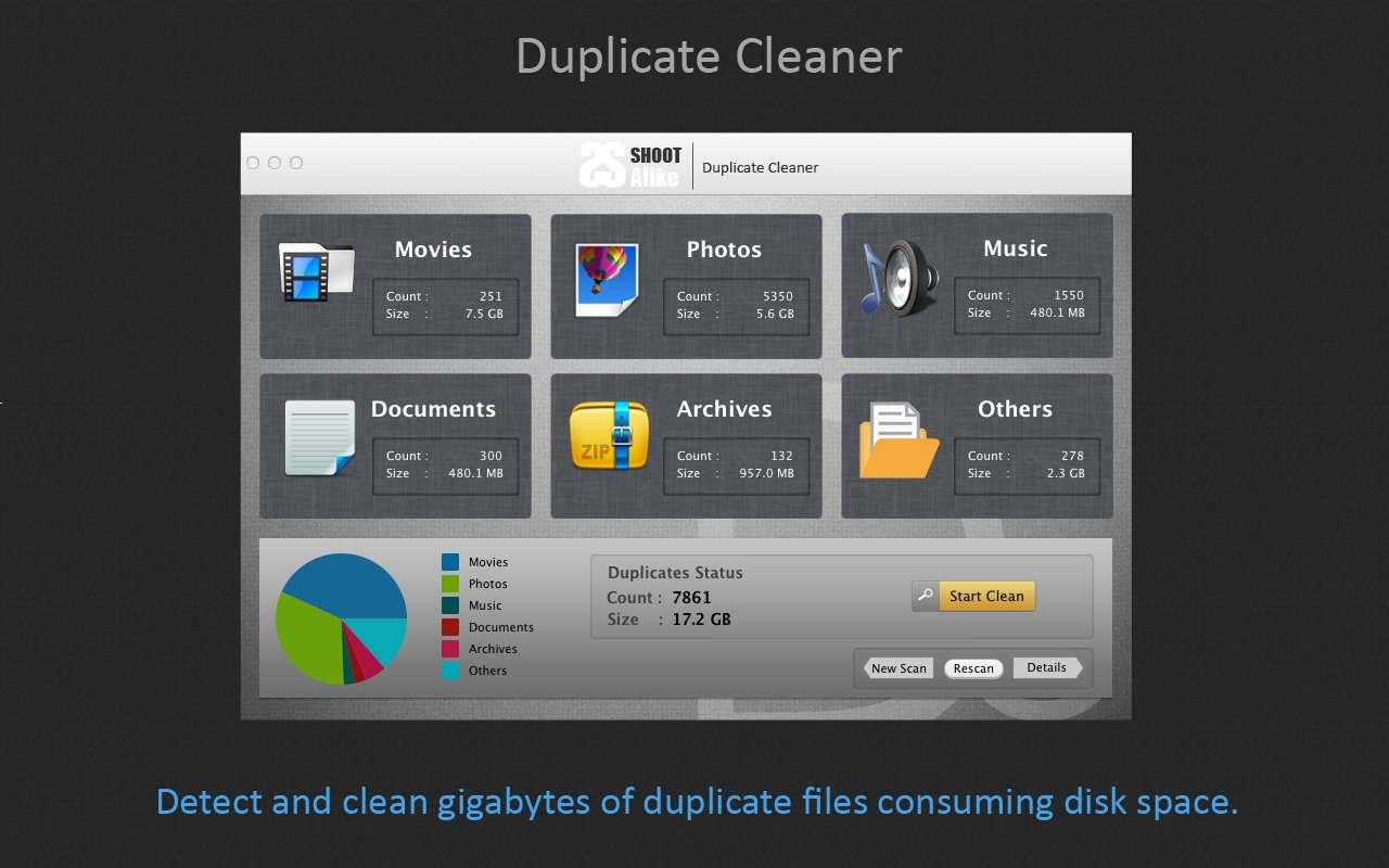 Screenshot 1 for Duplicate File Cleaner