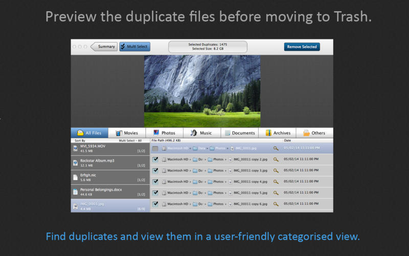 Screenshot 2 for Duplicate File Cleaner