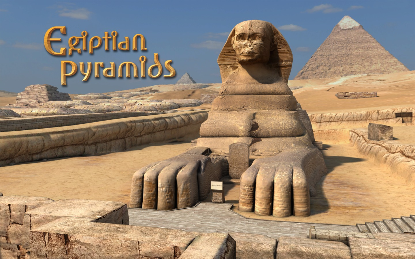 Screenshot 1 for Egyptian Pyramids 3D