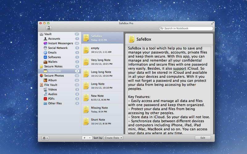 Screenshot 3 for SafeBox Pro