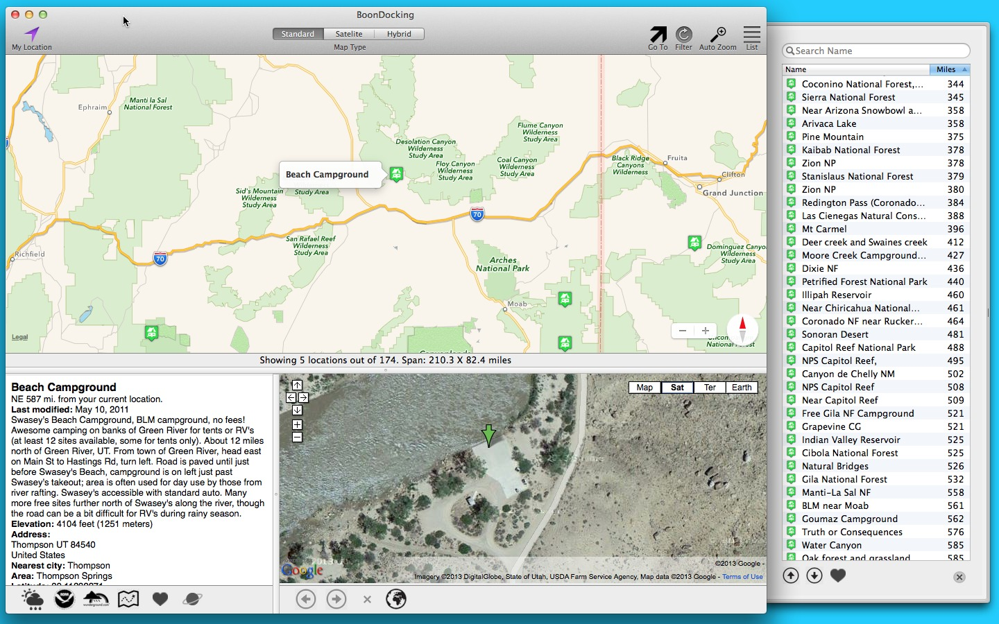 Screenshot 1 for Boondocking