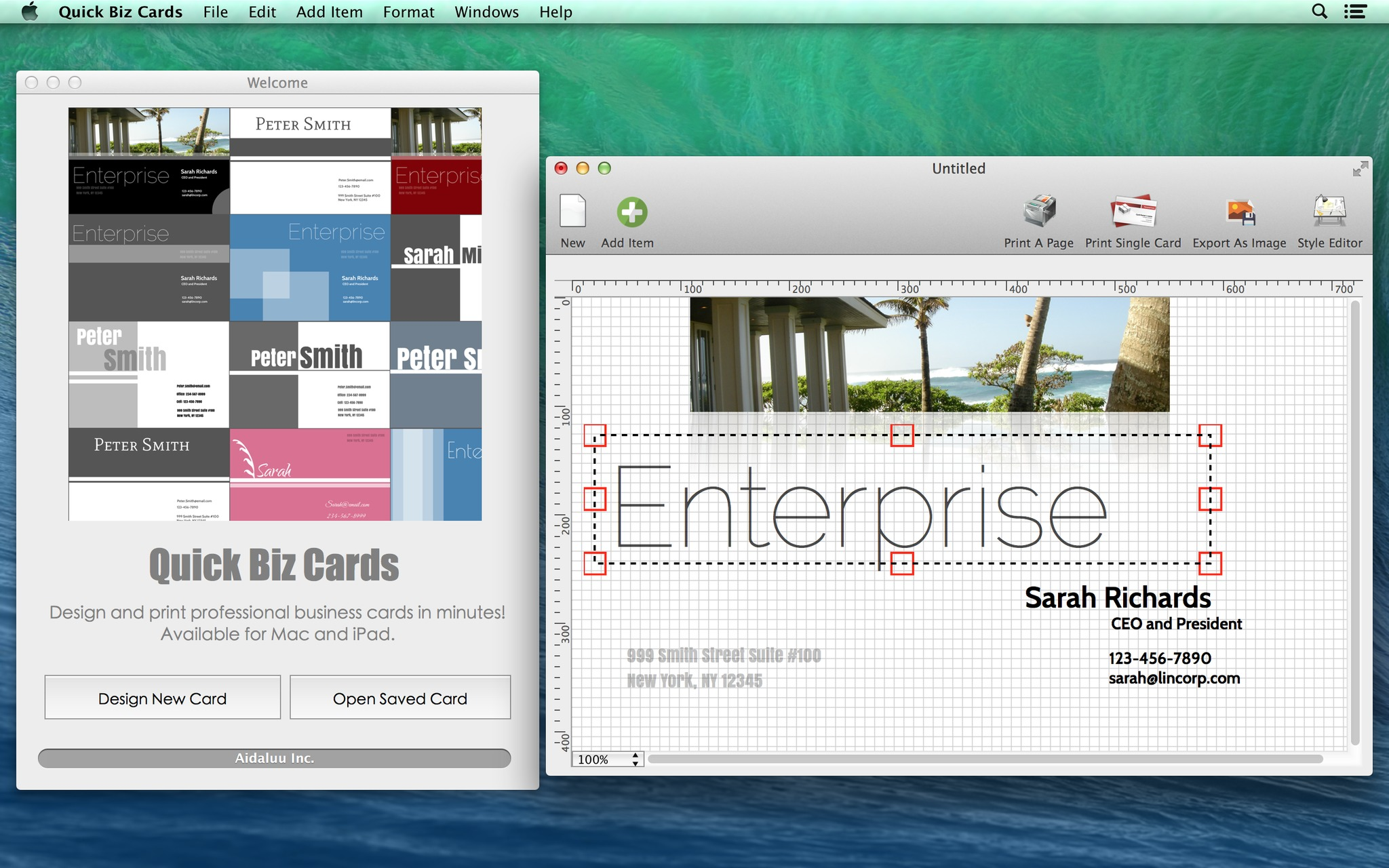 Screenshot 1 for Quick Biz Cards