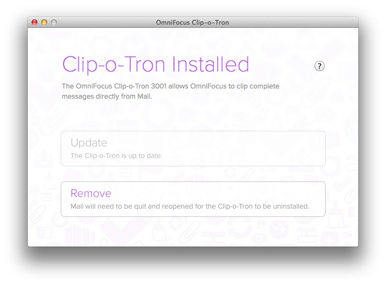 Screenshot 1 for OmniFocus Clip-o-Tron