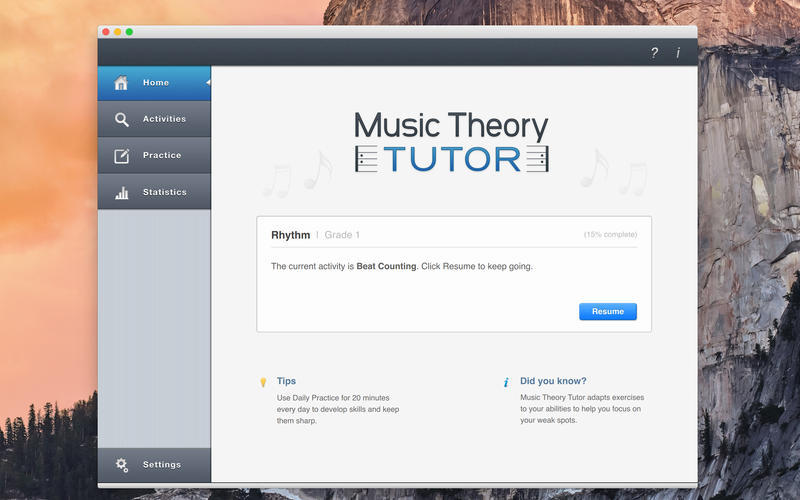 Screenshot 1 for Music Theory Tutor