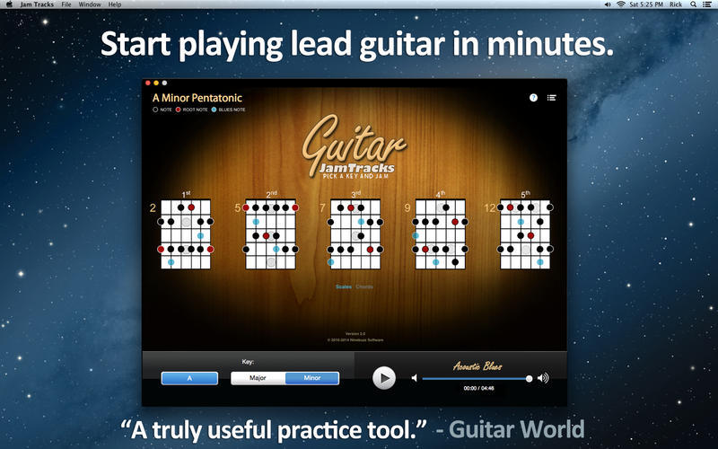 Screenshot 1 for Guitar Jam Tracks
