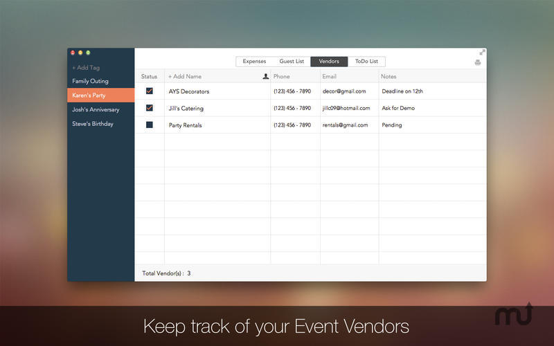 Screenshot 3 for Event Planner