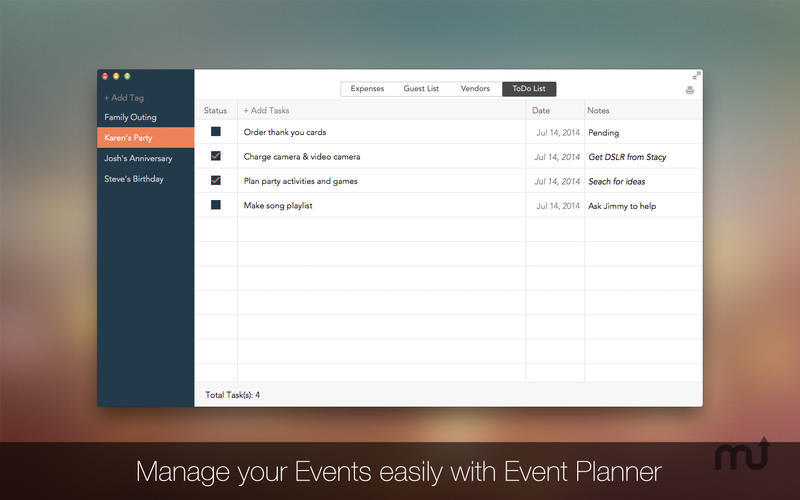 Screenshot 4 for Event Planner