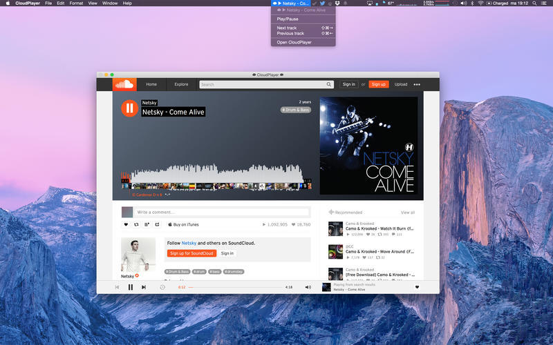Screenshot 1 for CloudPlayer