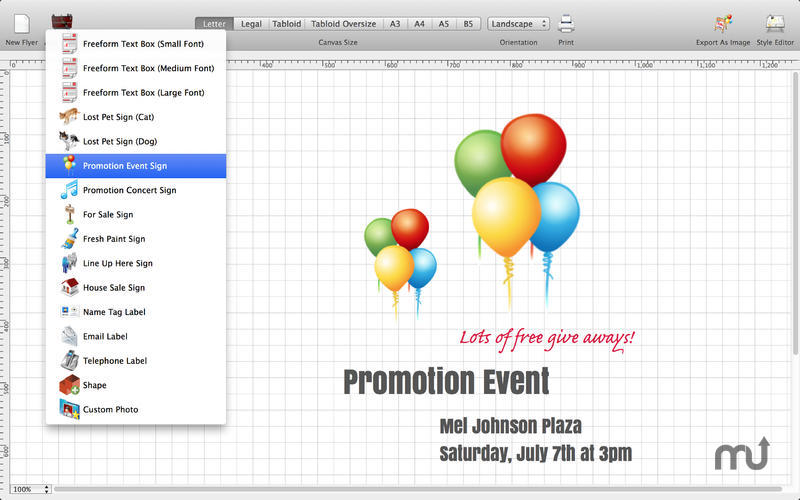 Screenshot 5 for Flyer Designer