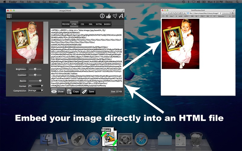 Screenshot 1 for Image2Html