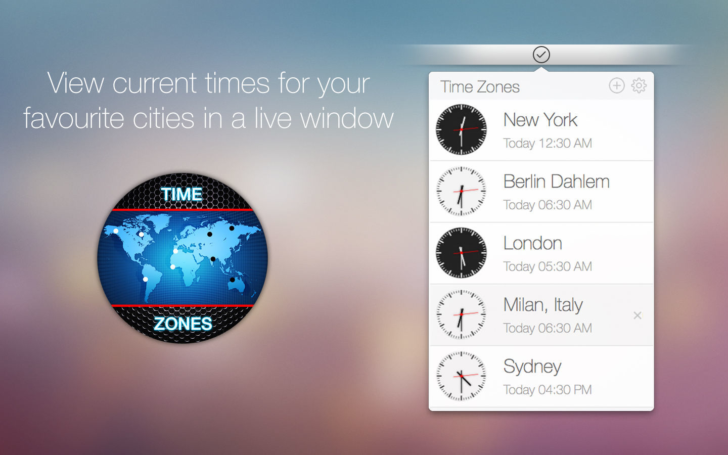 Screenshot 1 for Time Zones
