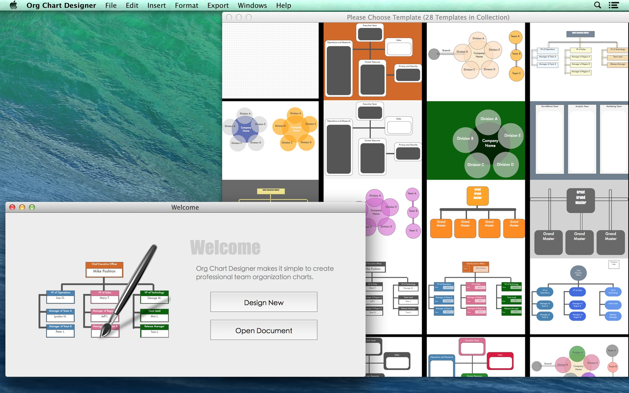 Screenshot 1 for Org Chart Designer