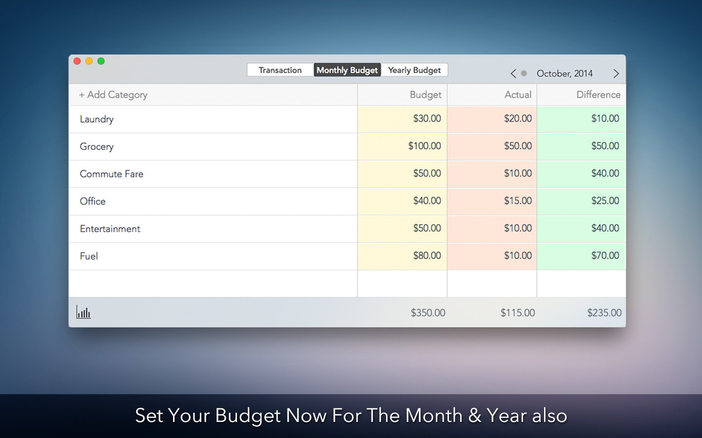 Screenshot 2 for Personal Budget