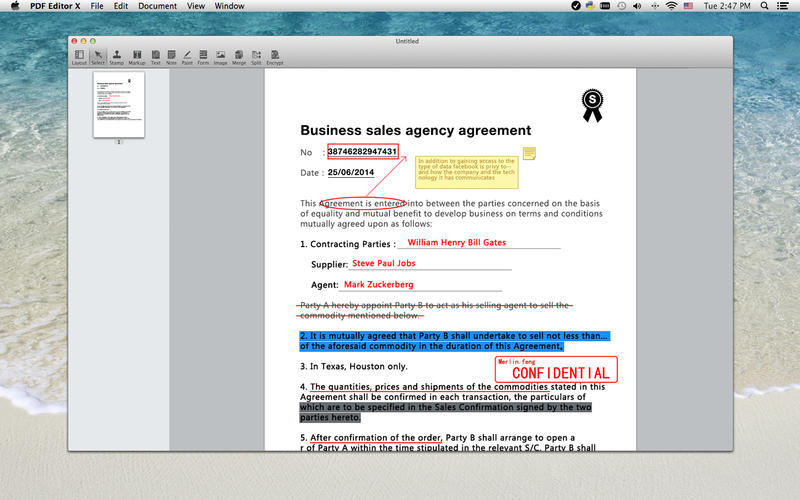 Screenshot 1 for PDF Editor X