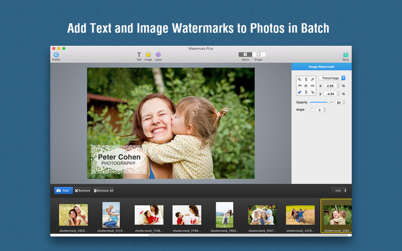 Screenshot 1 for Watermark Plus