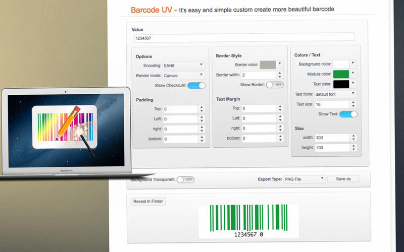 Screenshot 1 for Barcode UV
