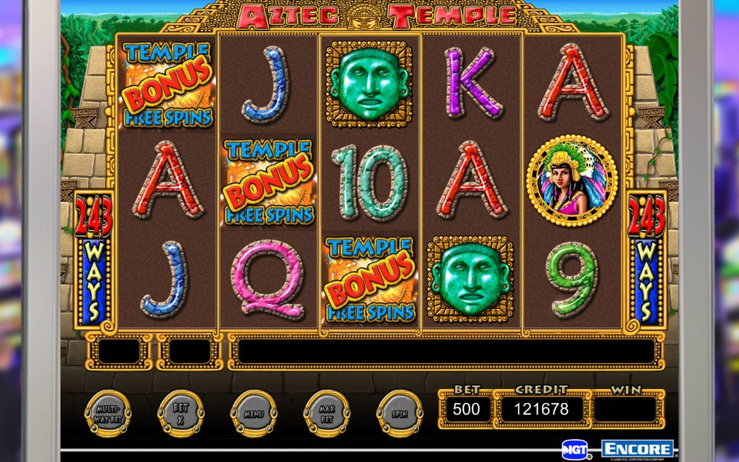 Screenshot 1 for IGT Slots Aztec Temple