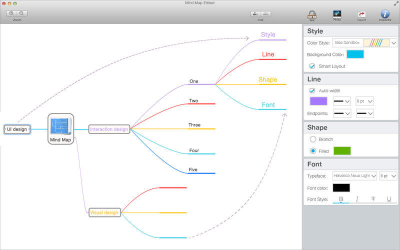 Screenshot 1 for Mind Map Pro