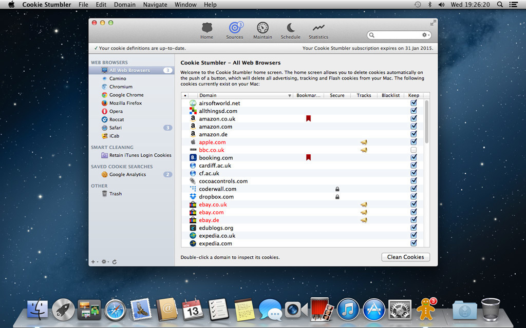 Screenshot 1 for Cookie Stumbler (Mac and Windows License)
