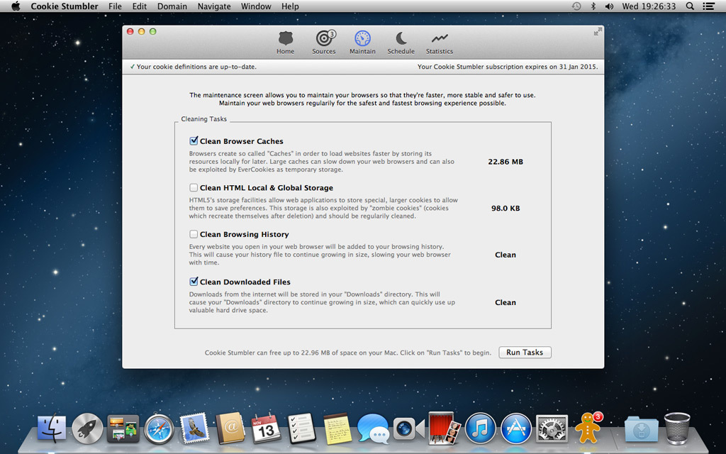 Screenshot 2 for Cookie Stumbler (Mac and Windows License)