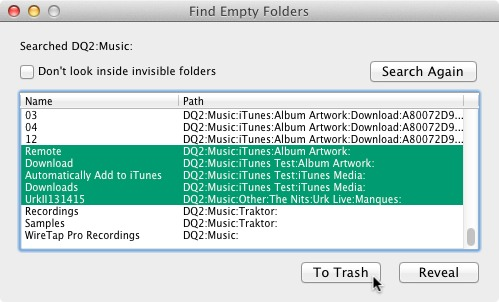 Screenshot 1 for Find Empty Folders