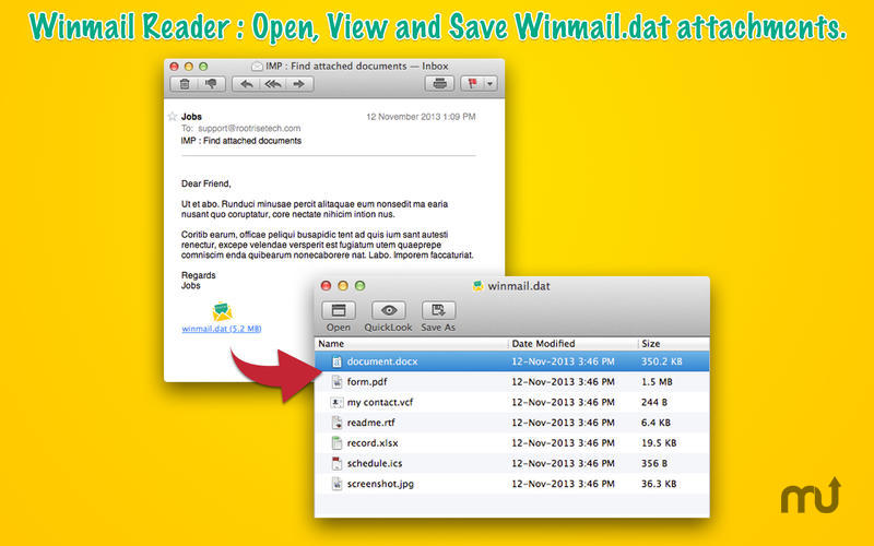 Screenshot 1 for Winmail Reader