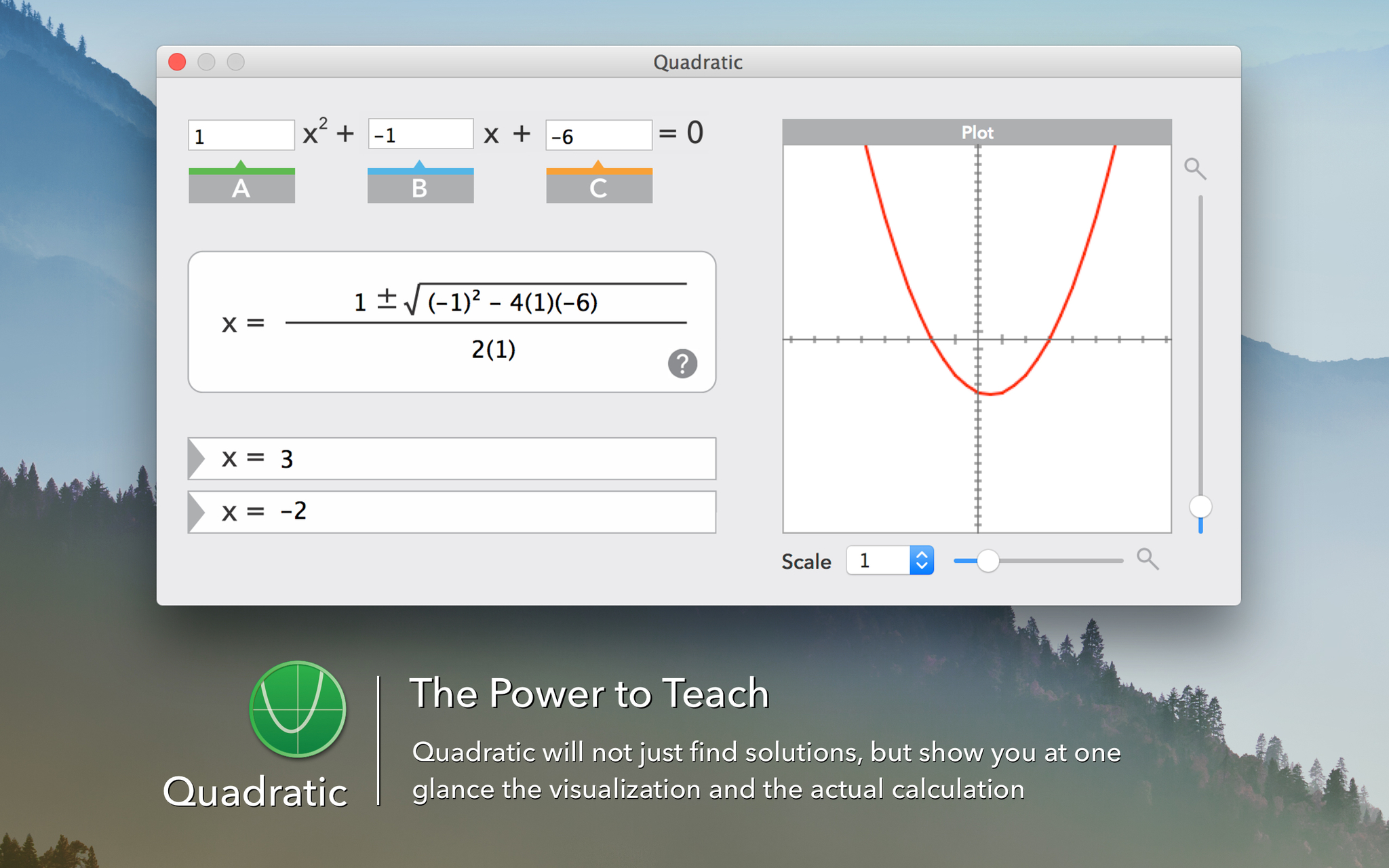 Screenshot 1 for Quadratic
