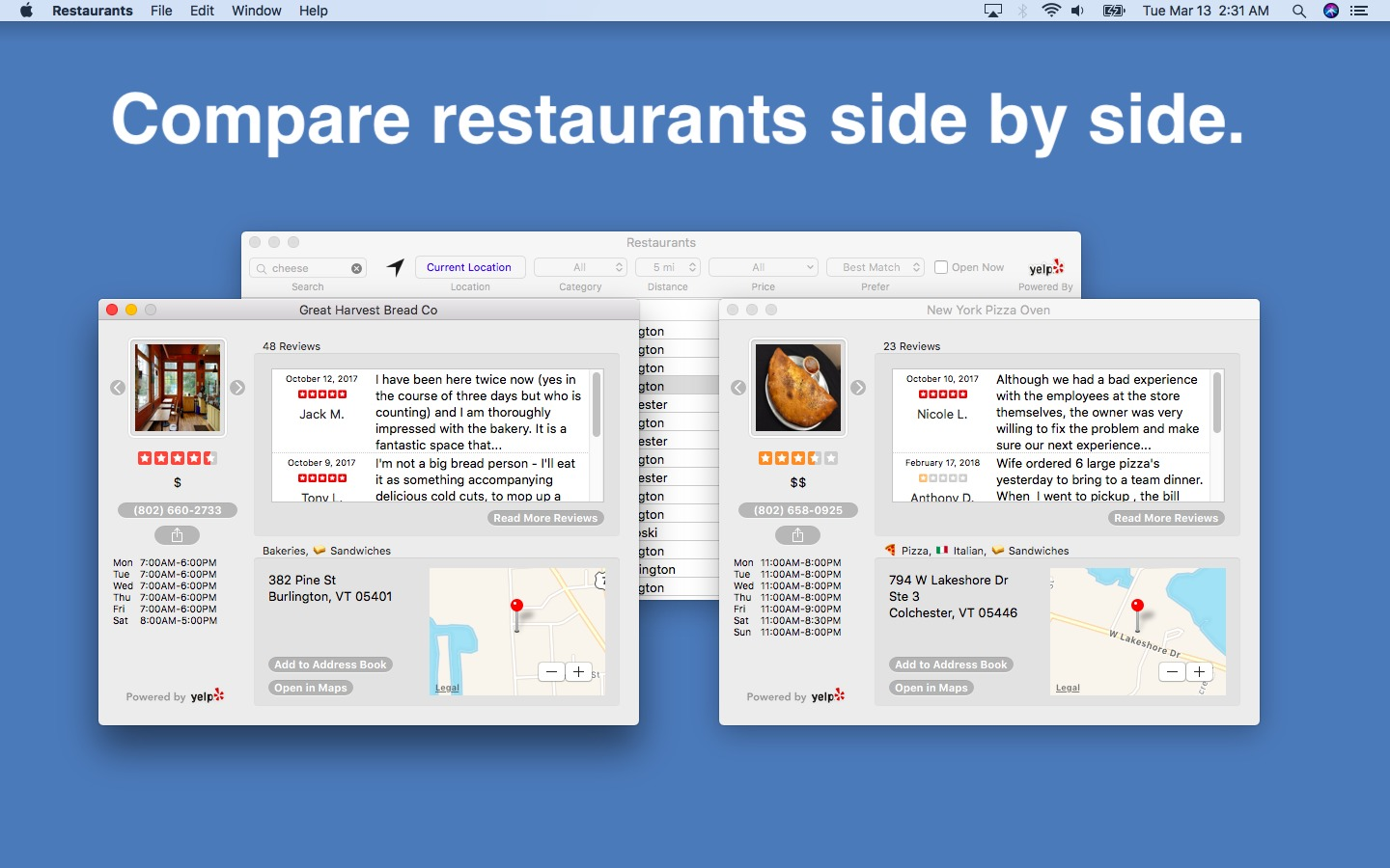 Screenshot 2 for Restaurants