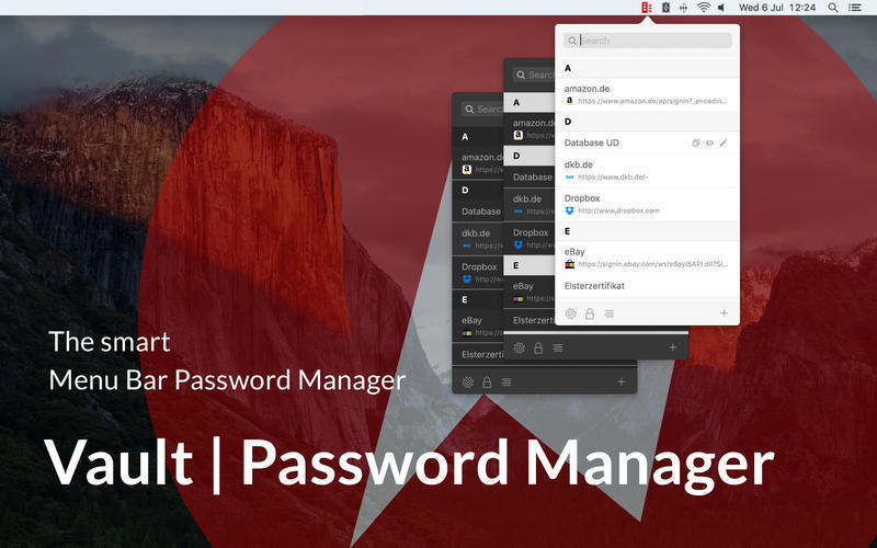 Screenshot 1 for Vault Password Manager